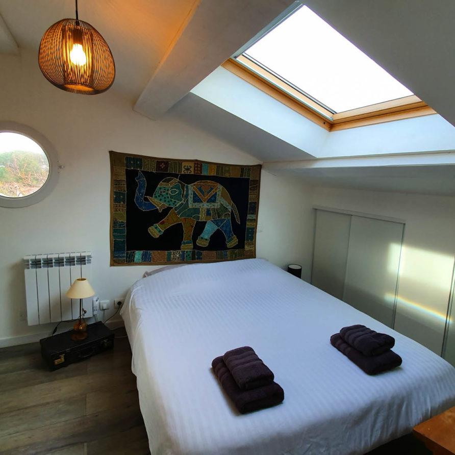 Chambre parentale du gite à Meschers le cottage de lulu