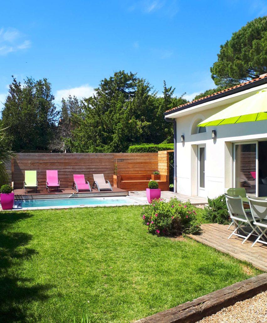 Gite de vacances à Meschers sur Gironde avec piscine mini pool spa La villa Lucas 2-7 pers